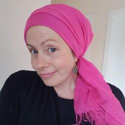 Preloved Scarf - Bright Pink