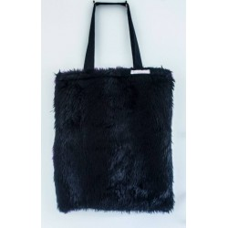 Fur Fabric Tote Bag by...