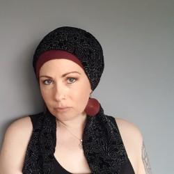 Fancy black sash scarf -...