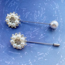 Pearl and Diamanté Scarf Pin
