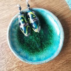 Vintage Lampwork Bead Earrings