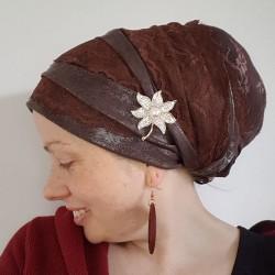 Sinar Tichel  - brown lace