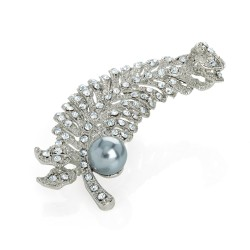 Pearl and Feather Brooch